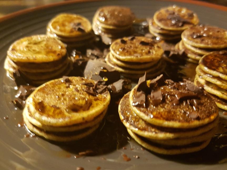 Roulette di minipancake ciocco &acero