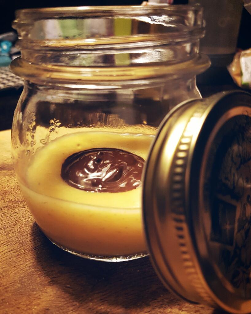 Crema di cocco all'arancia e cuore dicioccolato