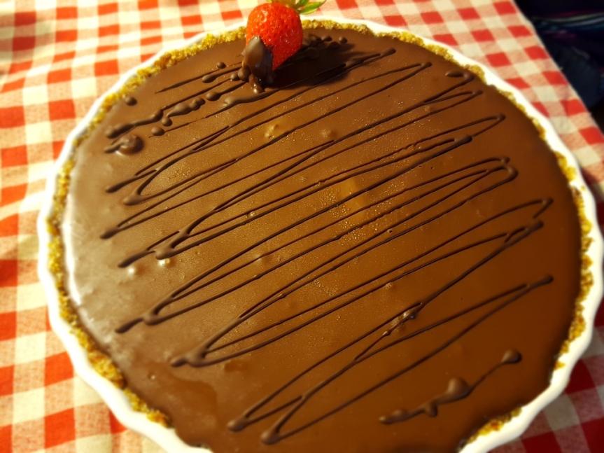 Scrivilo con una fragola – crostata lussuriosa con crema di limone, fragole e ganache al cioccolatofondente