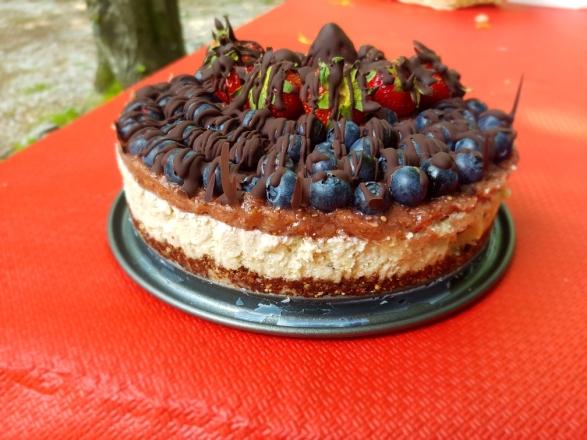 torta cocco cioccolato mirtilli e fragole cencecicin.com 05