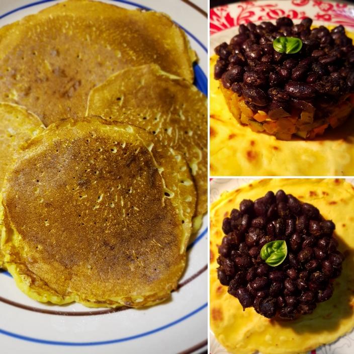 Crepes di farina di ceci – ricetta base, facile e veloce, con solo 3 ingredienti (emezzo)