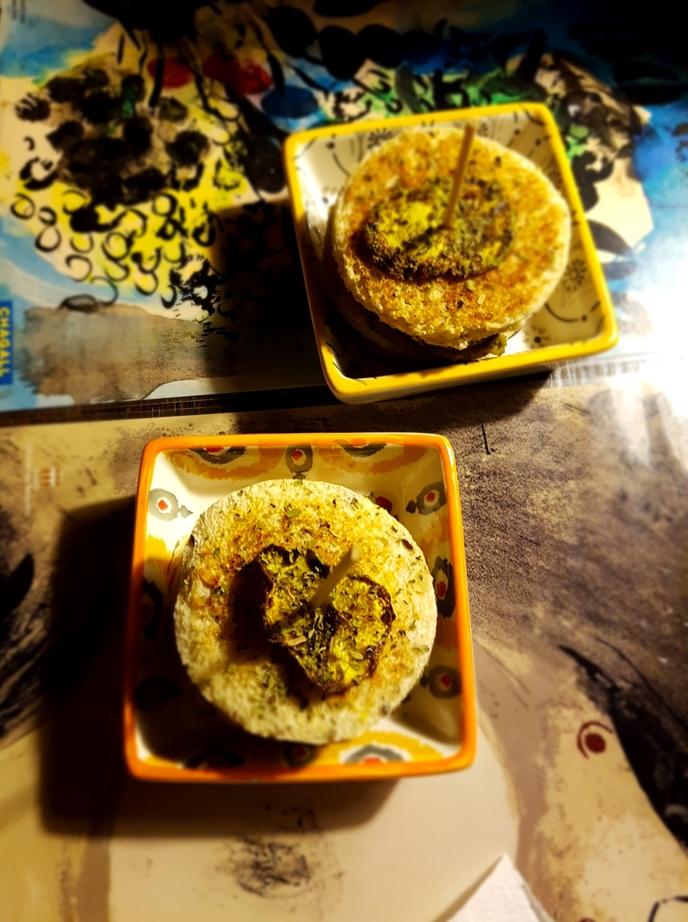 Mini sandwich alla crema di azuki con zucchine alla piastra menta ecurry