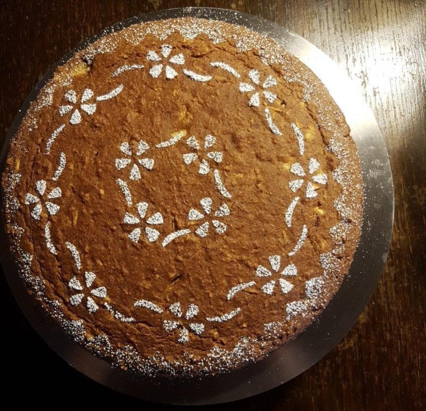Torta mele e limone senza zucchero(vegana)