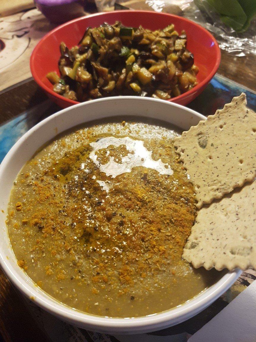 Vellutata di lenticchie arancia ecurry